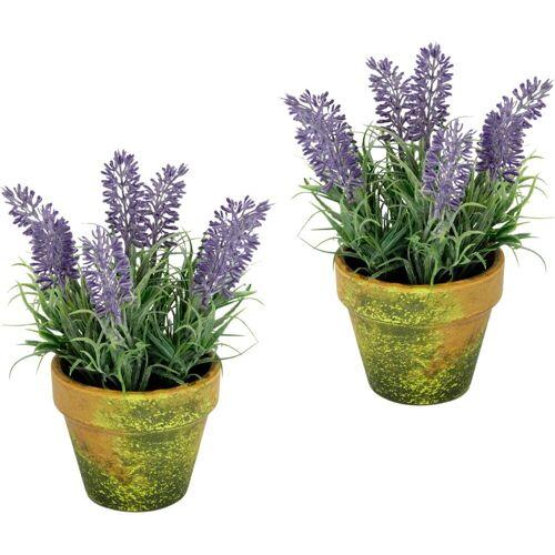 I.GE.A. Kunstblume, im Topf B/H: 10 cm x 16 lila Kunstblume Künstliche Zimmerpflanzen Kunstpflanzen Wohnaccessoires