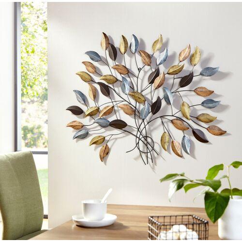 my home Wanddekoobjekt Fagus, Wanddeko, Wanddekoration, aus Metall B/H/T: 103 cm x 91 2 bunt Wanddekoration Deko Wohnaccessoires