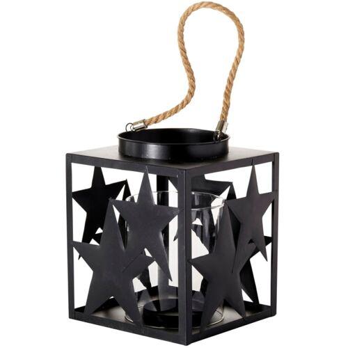 Windlicht Stella, mit Glaseinsatz, Höhe 23 cm B/H/T: 18 x schwarz Kerzenhalter Kerzen Laternen Wohnaccessoires
