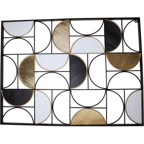 Leonique Wanddekoobjekt, Wanddeko, aus Metall B/H/T: 101 cm x 76 2,5 bunt Wanddekoobjekt Wanddekoration Deko Wohnaccessoires