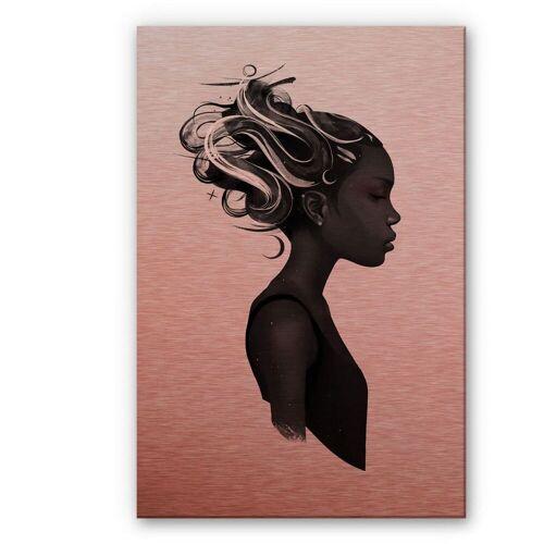 Wall-Art Metallbild Black Lives Matter Say Her Name, (1 St.) B/H/T: 40 cm x 0,3 60 rot Metallbilder Bilder Bilderrahmen Wohnaccessoires
