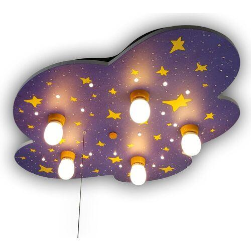 niermann Deckenleuchte Nachthimmel, E14, 1 St., Nachthimmel 5 flg., Höhe: 7 cm, St. bunt Kinder Kinderzimmerleuchten Lampen Leuchten