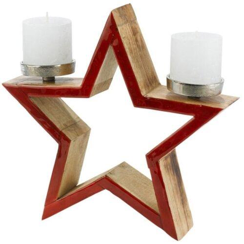 Kerzenhalter Stern, Ø 32 cm H/T: x 8 rot Kerzen Laternen Wohnaccessoires