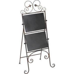 Ambiente Haus Kochbuchhalter, klappbar 50x36x102 cm schwarz Kochbuchhalter Ständer, Halterungen Haken Aufbewahrung Ordnung Wohnaccessoires