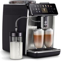 Saeco Kaffeevollautomat GranAroma SM6585/00, individuelle Personalisierung mit CoffeeMaestro, 16 Kaffeespezialitäten Einheitsgröße silberfarben Kaffee Espresso SOFORT LIEFERBARE Haushaltsgeräte