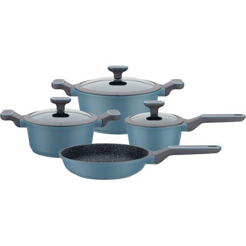 GSW Topf-Set Blue Granit, Aluminiumguss, (Set, 7 tlg.), Induktion Einheitsgröße blau Topfsets Töpfe Haushaltswaren