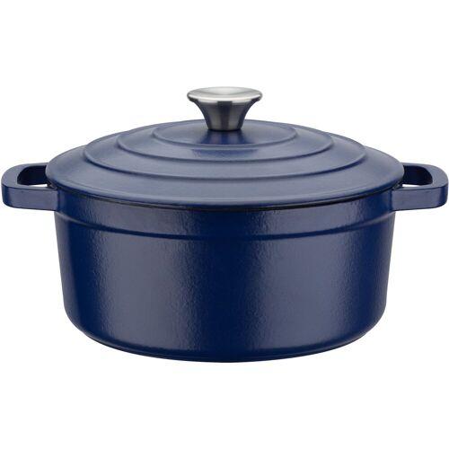 GSW Kochtopf Blue Magic, Gusseisen, (1 tlg.), Induktion Ø 24 cm blau Suppentöpfe Töpfe Haushaltswaren