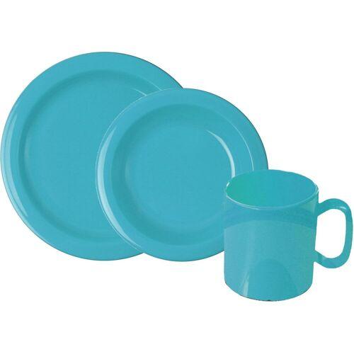 WACA Frühstücks-Geschirrset, (Set, 6 tlg.) Einheitsgröße blau Frühstücks-Geschirrset Frühstücksset Eierbecher Geschirr, Porzellan Tischaccessoires Haushaltswaren