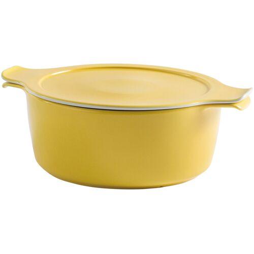 Eschenbach Kochtopf Cook & Serve, Porzellan, (1 tlg.), Ø 18 cm, 1,5 Liter, Induktion cm gelb Suppentöpfe Töpfe Haushaltswaren