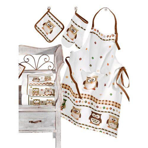 Geschirrtuch (50x70 cm, 4 Halbleinen-Geschirrtücher), 1 tlg., Baumwolle weiß Geschirrtücher Küchenhelfer Haushaltswaren