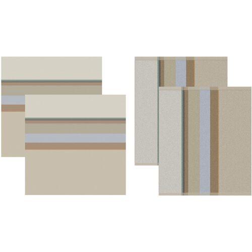 DDDDD Geschirrtuch Rico, (Set, 4 tlg., Combi-Set: bestehend aus 2x Küchentuch + Geschirrtuch) 100 % Baumwolle beige Geschirrtücher Küchenhelfer Haushaltswaren