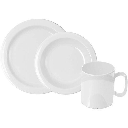 WACA Frühstücks-Geschirrset, (Set, 6 tlg.) Einheitsgröße weiß Frühstücks-Geschirrset Frühstücksset Eierbecher Geschirr, Porzellan Tischaccessoires Haushaltswaren
