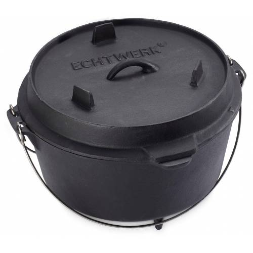 ECHTWERK Schmortopf Dutch Oven, Gusseisen, (1 tlg.), 8 Liter Ø 31,5 cm schwarz Schmortöpfe Töpfe Haushaltswaren