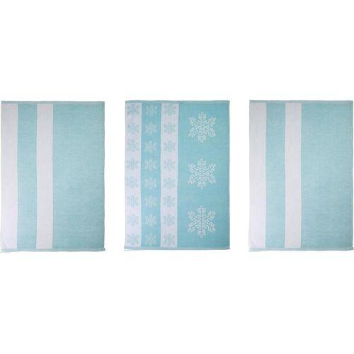 stuco Geschirrtuch Eiskristall, (Set, 9 tlg.), in zwei Varianten tlg., 100 % Baumwolle blau Geschirrtücher Küchenhelfer Haushaltswaren