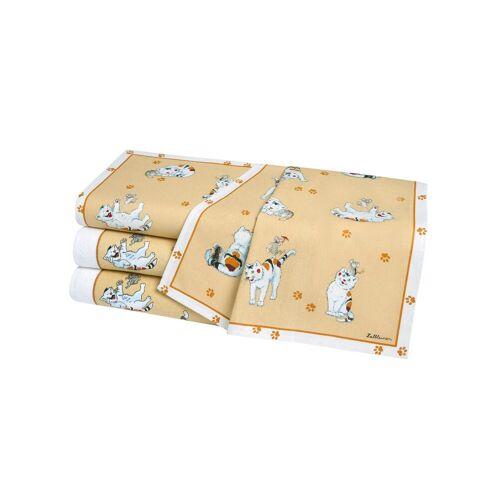 Geschirrtücher Geschirrtücher, 4 tlg., Baumwolle-Leinen gelb Geschirrtuch Küchenhelfer Haushaltswaren