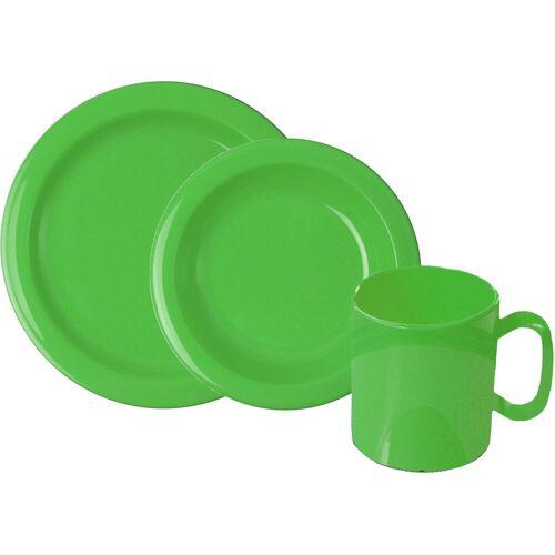 WACA Frühstücks-Geschirrset, (Set, 6 tlg.) Einheitsgröße grün Frühstücks-Geschirrset Frühstücksset Eierbecher Geschirr, Porzellan Tischaccessoires Haushaltswaren