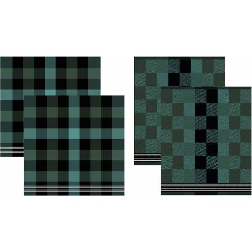 DDDDD Geschirrtuch Feller, (Set, 4 tlg., Combi-Set: bestehend aus 2x Küchentuch + Geschirrtuch) 100 % Baumwolle grün Geschirrtücher Küchenhelfer Haushaltswaren
