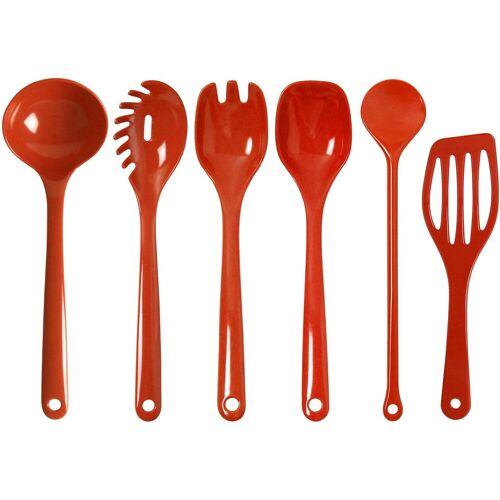 WACA Kochbesteck-Set, (Set, 6 tlg.) Einheitsgröße rot Kochbesteck-Set Kochbesteck Besteck Messer Haushaltswaren