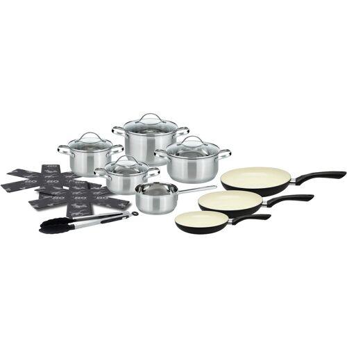 Elo - Meine Küche Topf-Set, Edelstahl 18/10, (Set, 15 tlg.), Induktion Einheitsgröße silberfarben Topf-Set Topfsets Töpfe Haushaltswaren