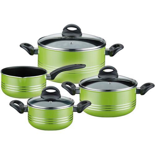 GSW Topf-Set Milano color, Aluminium-Leichtmetall-Legierung, (Set, 7 tlg.), Induktion Einheitsgröße grün Topfsets Töpfe Haushaltswaren