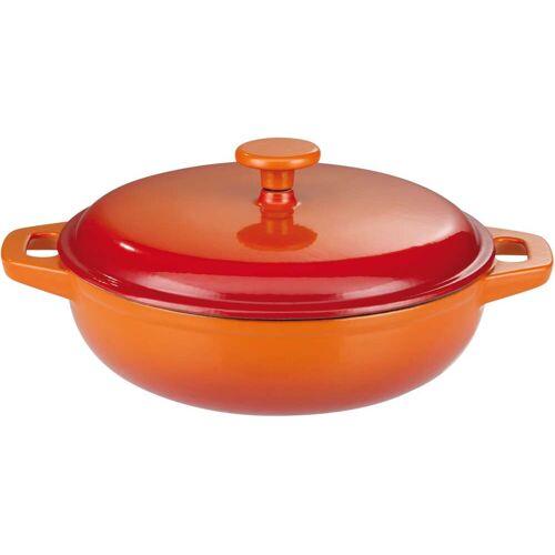 GSW Schmortopf Orange Shadow, Gusseisen, (1 tlg.), Induktion Ø 30 cm orange Schmortöpfe Töpfe Haushaltswaren