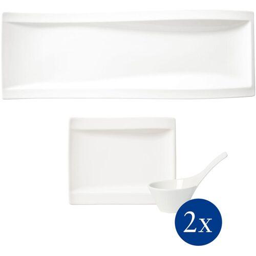 Villeroy & Boch Geschirr-Set NewWave Antipasti Set, (Set, 5 tlg.) Einheitsgröße weiß Schalen Geschirr, Porzellan Tischaccessoires Haushaltswaren