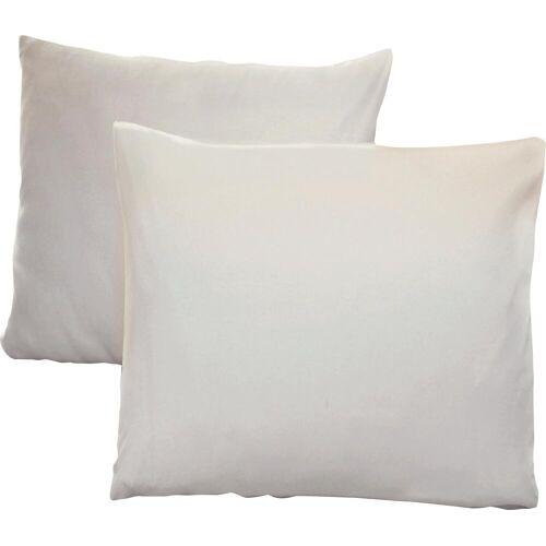 Schlafgut Kissenbezug Jersey, (2 St.), mit Aloe Vera Ausrüstung B/L: 40 cm x cm, 2 St., Mako-Jersey weiß Kissenbezüge gemustert Kissen