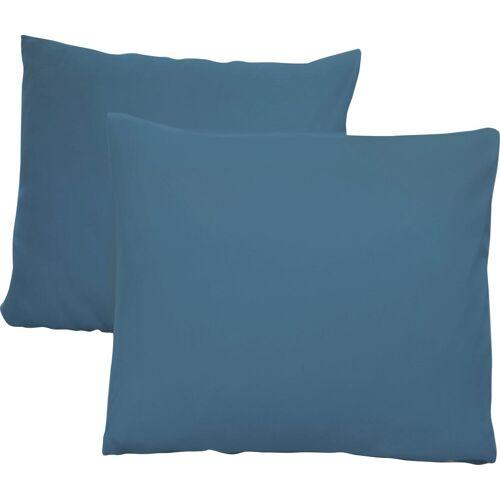 Schlafgut Kissenbezug Jersey, (2 St.), mit Aloe Vera Ausrüstung B/L: 80 cm x cm, 2 St., Mako-Jersey blau Kissenbezüge gemustert Kissen