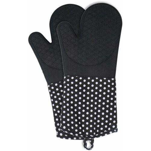 WENKO Topfhandschuhe, (Set, 2 tlg.), aus Silikon Einheitsgröße schwarz Topfhandschuhe Topflappen und Topfhandschuh Kochen Backen Haushaltswaren