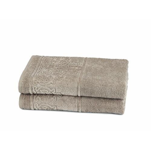 Döhler Handtuch Set Retro 2 tlg. grün Handtuch-Sets Handtücher Badetücher
