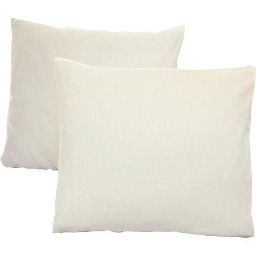 Schlafgut Kissenbezug Jersey, (2 St.), mit Aloe Vera Ausrüstung B/L: 80 cm x cm, 2 St., Mako-Jersey rosa Kissenbezüge gemustert Kissen
