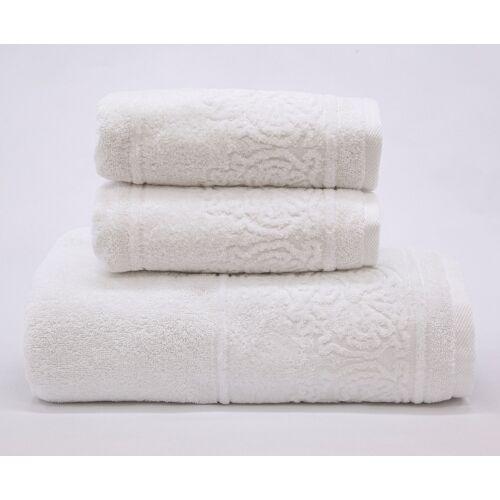 Döhler Handtuch Set Retro 3-teilig 3 tlg. weiß Handtuch-Sets Handtücher Badetücher