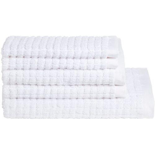 Seahorse Handtuch Set Cube 5 tlg. weiß Handtuch-Sets Handtücher Badetücher