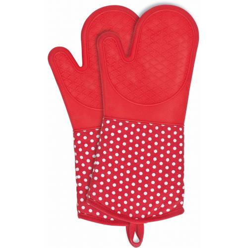 WENKO Topfhandschuhe, (Set, 2 tlg.), aus Silikon Einheitsgröße rot Topfhandschuhe Topflappen und Topfhandschuh Kochen Backen Haushaltswaren