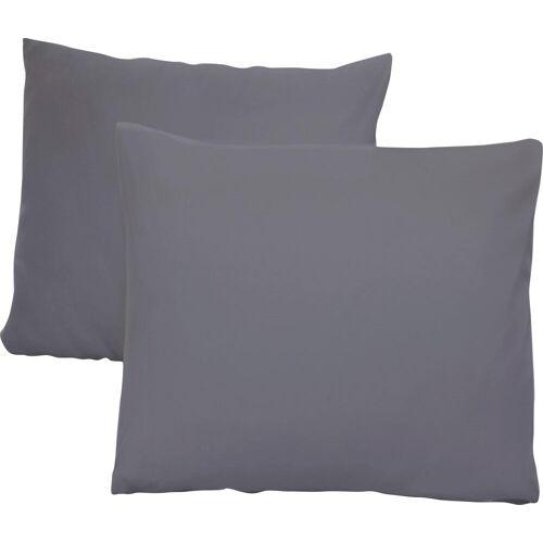 Schlafgut Kissenbezug Jersey, (2 St.), mit Aloe Vera Ausrüstung B/L: 80 cm x cm, 2 St., Mako-Jersey grau Kissenbezüge gemustert Kissen