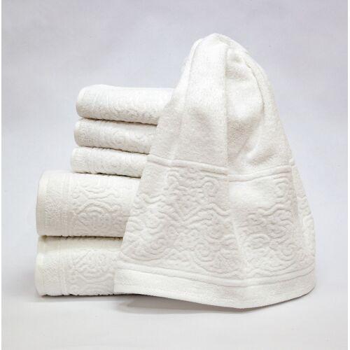 Döhler Handtuch Set Retro 6-teilig, 6 tlg. weiß Handtuch-Sets Handtücher Badetücher