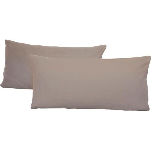 Schlafgut Kissenbezug Jersey, (2 St.), mit Aloe Vera Ausrüstung B/L: 40 cm x 80 cm, 2 St., Mako-Jersey grau Kissenbezüge gemustert Kissen