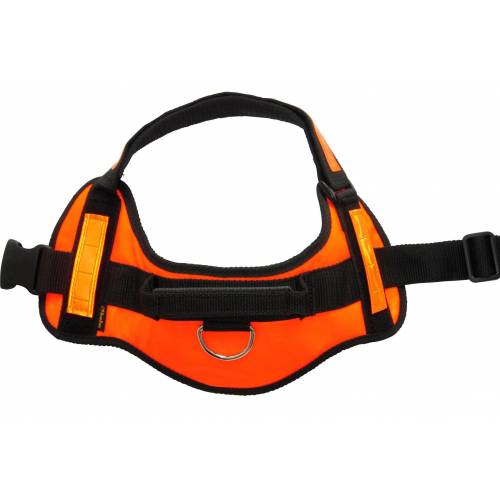 HEIM Hunde-Geschirr Profi-Geschirr-Set, Nylon XL orange Hundegeschirr Hund Tierbedarf