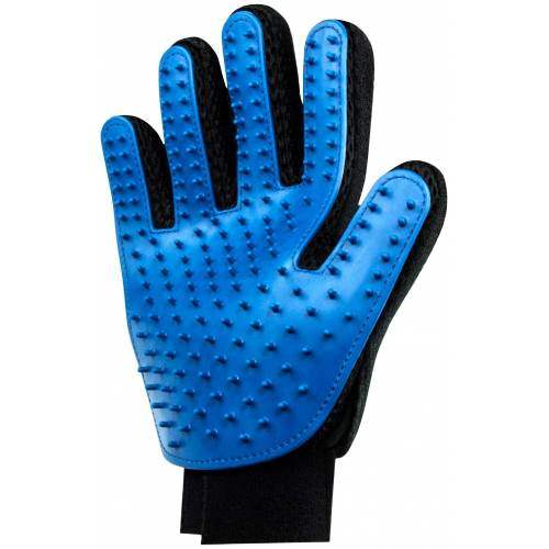 HEIM Fellpflegehandschuh, Gummi, 2 Stk. Einheitsgröße blau Fellpflegehandschuh Hundepflege Hund Tierbedarf
