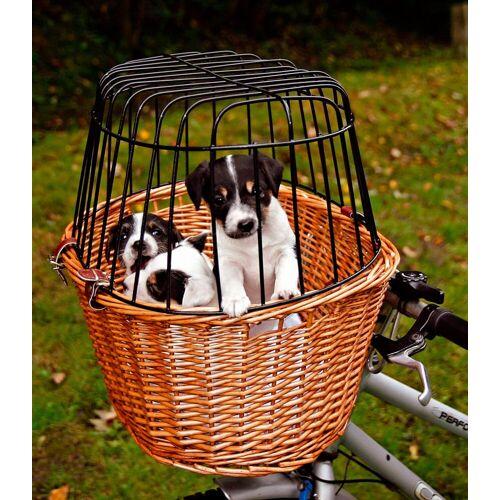 TRIXIE Tierfahrradkorb, bis 8 kg, mit Gitter, BxTxH: 44x48x33 cm B/H/T: 44 x 33 48 beige Tierfahrradkorb Hundetransport Hund Tierbedarf