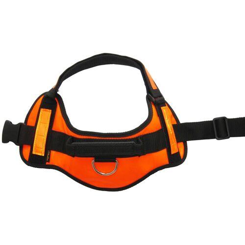 HEIM Hunde-Geschirr, Kunstleder-Nylon XL orange Hunde-Geschirr Hundegeschirr Hund Tierbedarf