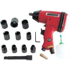 Brüder Mannesmann Werkzeuge Druckluft-Schlagschrauber Einheitsgröße rot Druckluftgeräte Werkzeug Maschinen