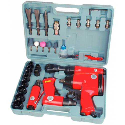 Brüder Mannesmann Werkzeuge Werkzeugset, (33 St.), Druckluft-Set Einheitsgröße rot Werkzeugset Werkzeugkoffer Werkzeug Maschinen