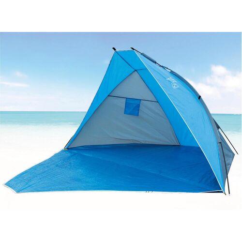 EXPLORER Strandmuschel Strandmuschel, verschließbar B/H/L: 120 cm x 270 blau Sonnenschutz Insektenschutz Camping Schlafen Outdoor