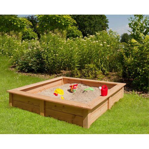 Kiehn-Holz Sandkasten, BxLxH: 148x148x26 cm B/H/L: 148 x 26 beige Kinder Sandkasten Sandkiste Sandspielzeug Outdoor-Spielzeug