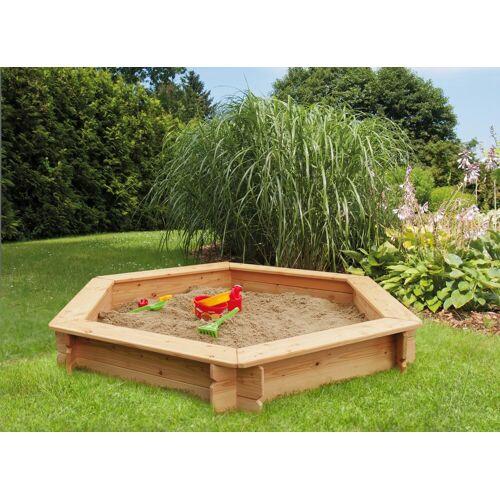 Kiehn-Holz Sandkasten, BxTxH: 175x175x30 cm B/H/L: 175 x 30 beige Kinder Sandkasten Sandkiste Sandspielzeug Outdoor-Spielzeug