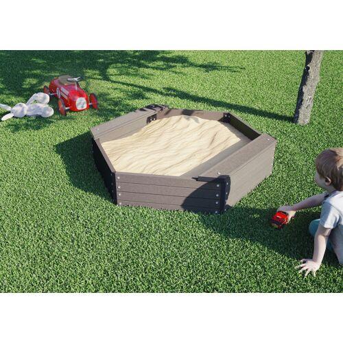 Kiehn-Holz Sandkasten, BxLxH: 109x109x27 cm B/H/L: 109 x 27 braun Kinder Sandkasten Sandkiste Sandspielzeug Outdoor-Spielzeug
