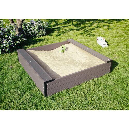Kiehn-Holz Sandkasten, BxLxH: 120x120x27 cm B/H/L: 120 x 27 braun Kinder Sandkasten Sandkiste Sandspielzeug Outdoor-Spielzeug