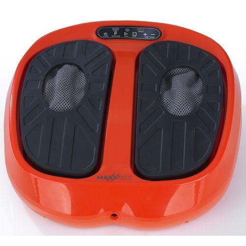 MAXXMEE Vibrationsplatte Vibrationsgerät Training & Massage 24V, 30 W, 15 Intensitätsstufen, (3 tlg.) Einheitsgröße orange Vibrationsplatten Fitnessgeräte