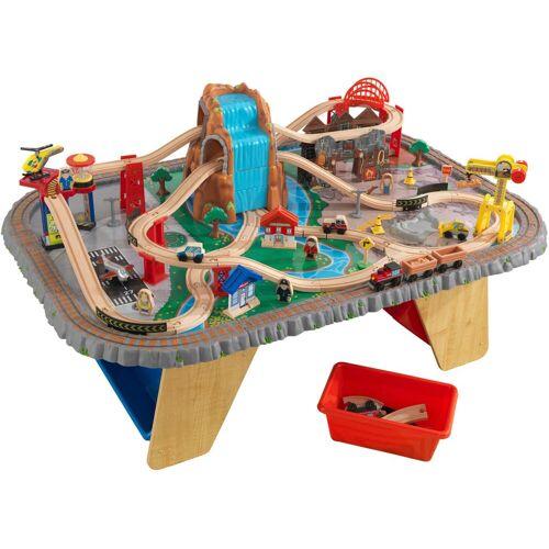 KidKraft Spieltisch Wasserfall Eisenbahntisch & Spielset Einheitsgröße bunt Kinder Ab 3-5 Jahren Altersempfehlung